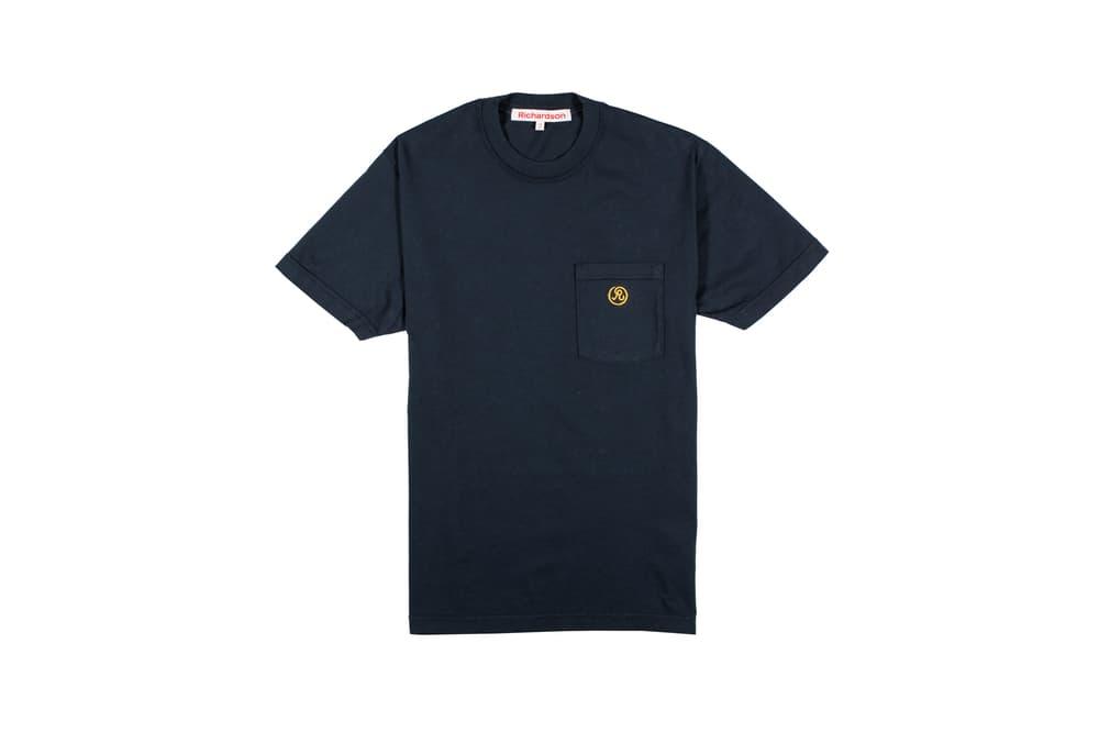Richardson Spring/Summer 2018 Collection Glyph Pocket T-Shirt Midnight Blue