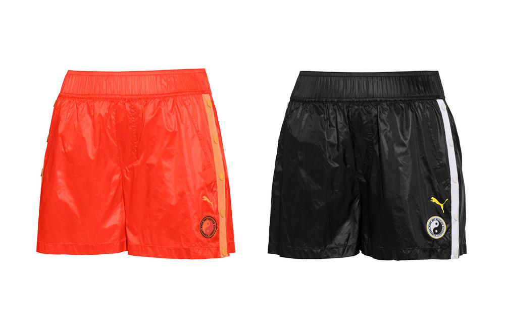 Rihanna Fenty PUMA Spring Summer 2018 Tearaway Mini Shorts Black Orange