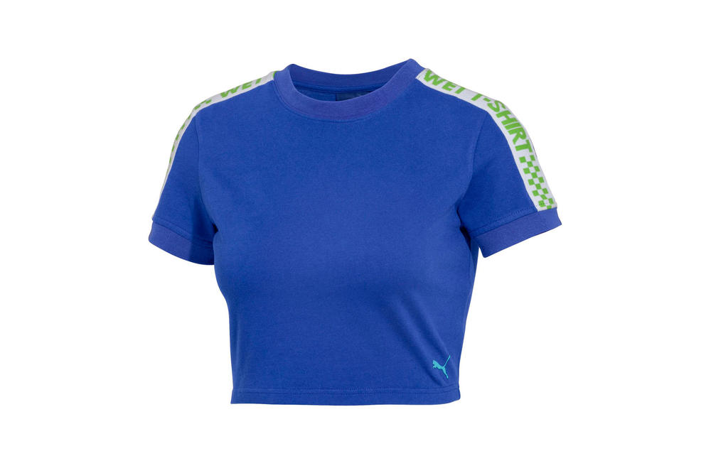 Rihanna Fenty PUMA Spring Summer 2018 Short Sleeve Cropped T-Shirt Dazzling Blue