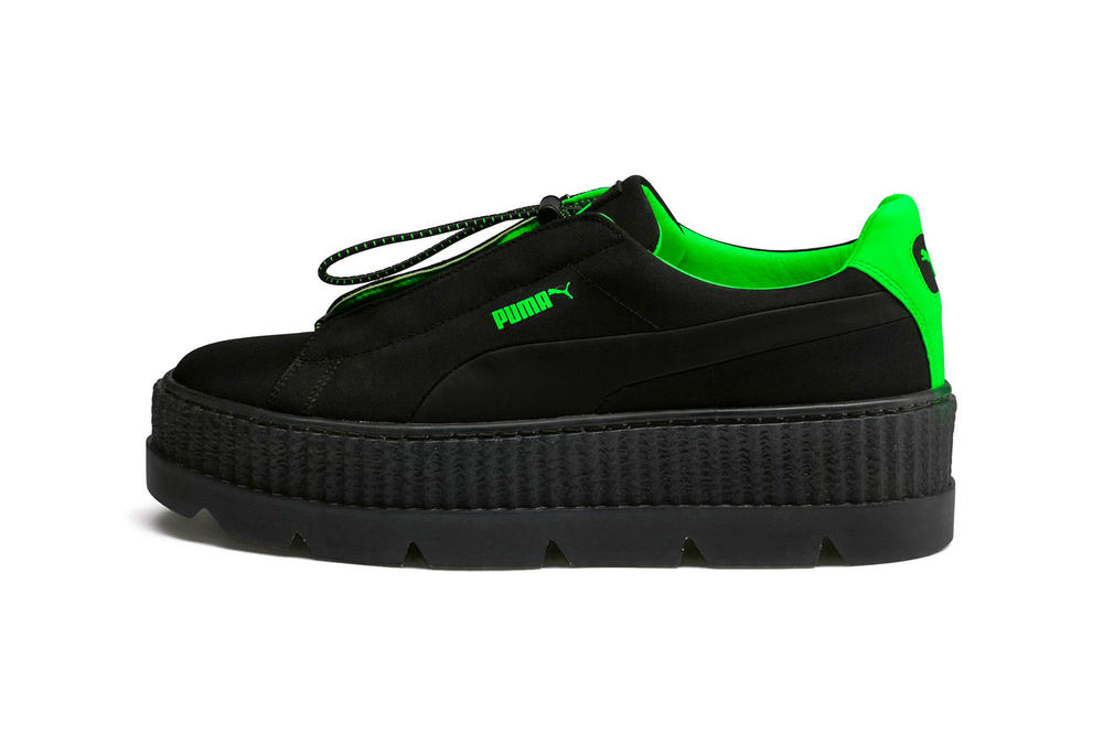 Rihanna Fenty PUMA Spring Summer 2018 Cleated Creeper Surf Black Green