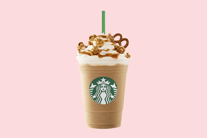 Starbucks Caramel Popcorn Pretzel Frappuccino Australia Release Limited Edition Flavor