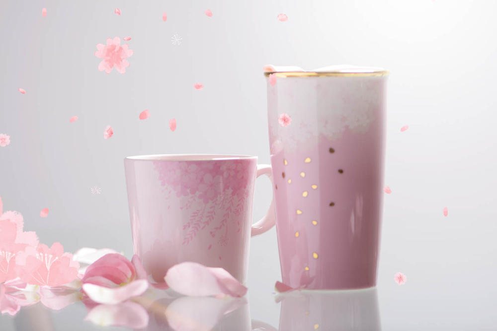 Starbucks pink cherry blossom cup mug tumbler pastel millennial floral violet hong kong where to buy spring season coffee blend drink merch merchandise