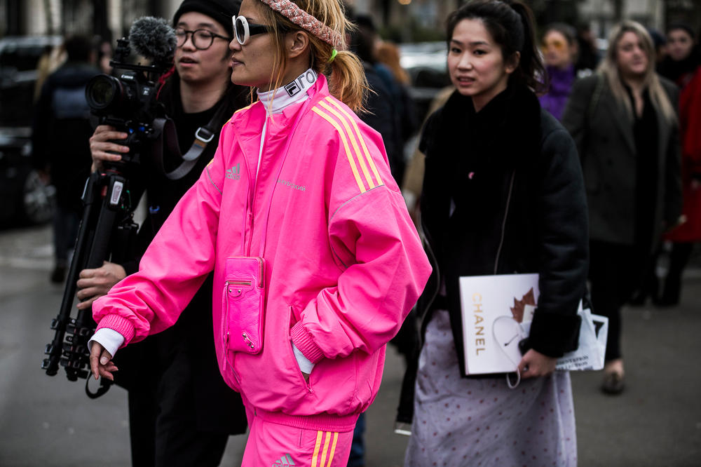 Streetsnaps Paris Fashion Week 2018 Women Gosha Rubchinsky adidas Track Jacket Pant