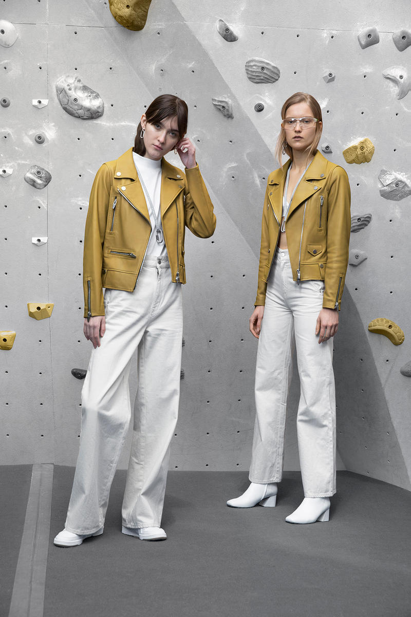 the arrivals mountain wear parkas bombers unisex tees leather jackets yellow white pants