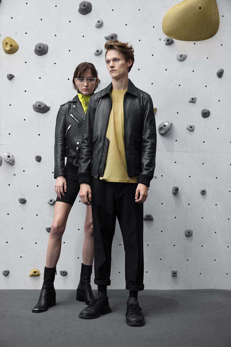the arrivals mountain wear parkas bombers unisex tees leather jackets yellow shirt rock climbing shorts