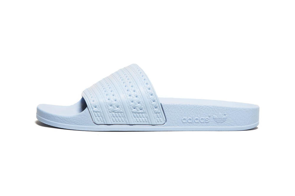 bcf8bc6e0866c adidas Originals Adilette Slides Pastel Baby Blue womens unisex slip on  sandals affordable where to buy