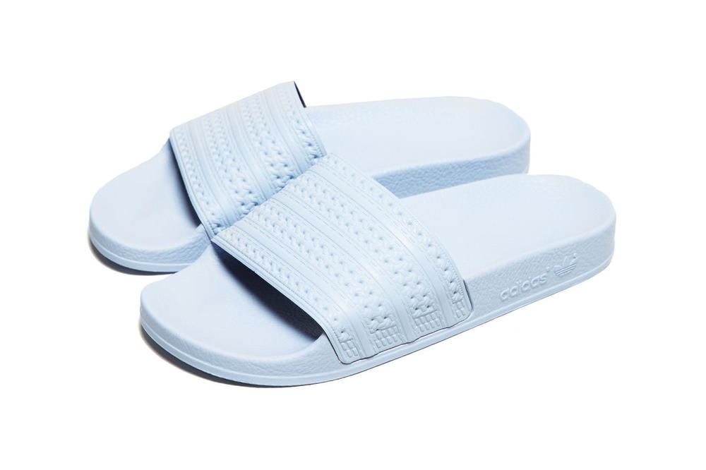 adidas Originals Adilette Slides Pastel Baby Blue womens unisex slip on sandals affordable where to buy size?
