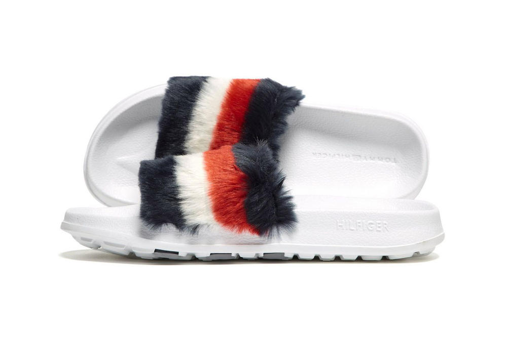 a9192aac04f Tommy Hilfiger fluffy furry fuzzy mae lo slides sandals slip-ons summer  footwear where to