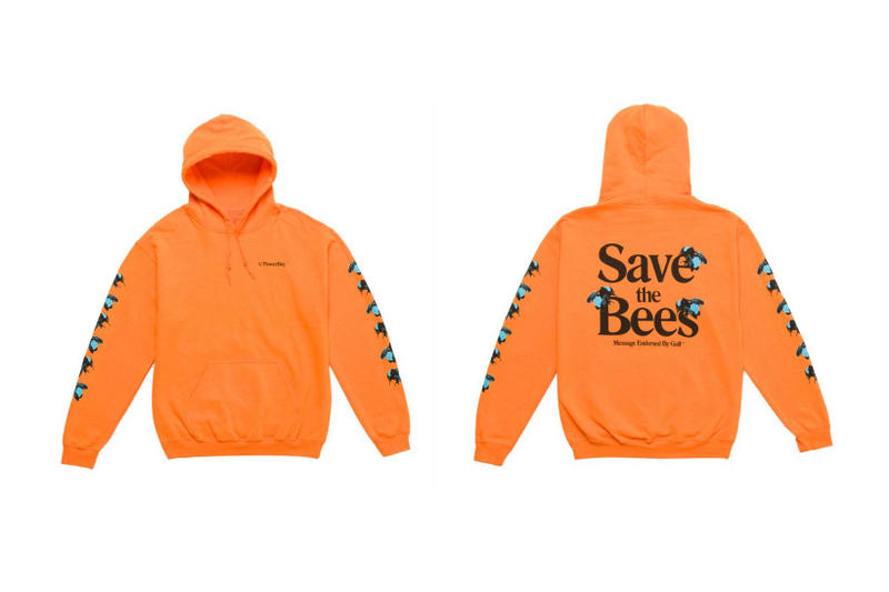 Tyler The Creator Golf Wang Flower Boy Save the Bees Hoodie Orange