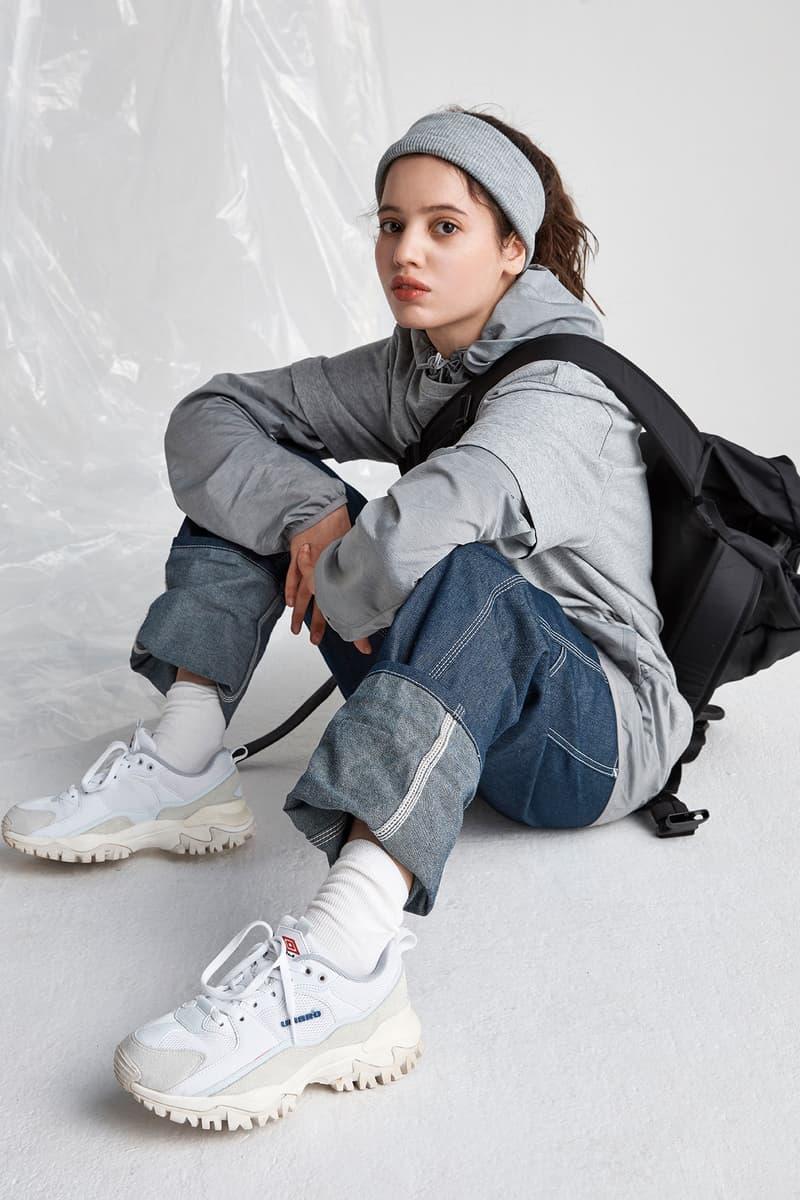 Umbro Bumpy Lookbook White Chunky Dad Sneaker