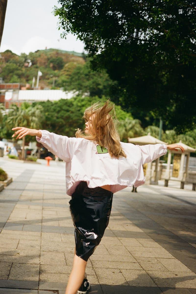 undercover jun takahashi hbxwm hbx editorial pink coach jacket pleather skirt park