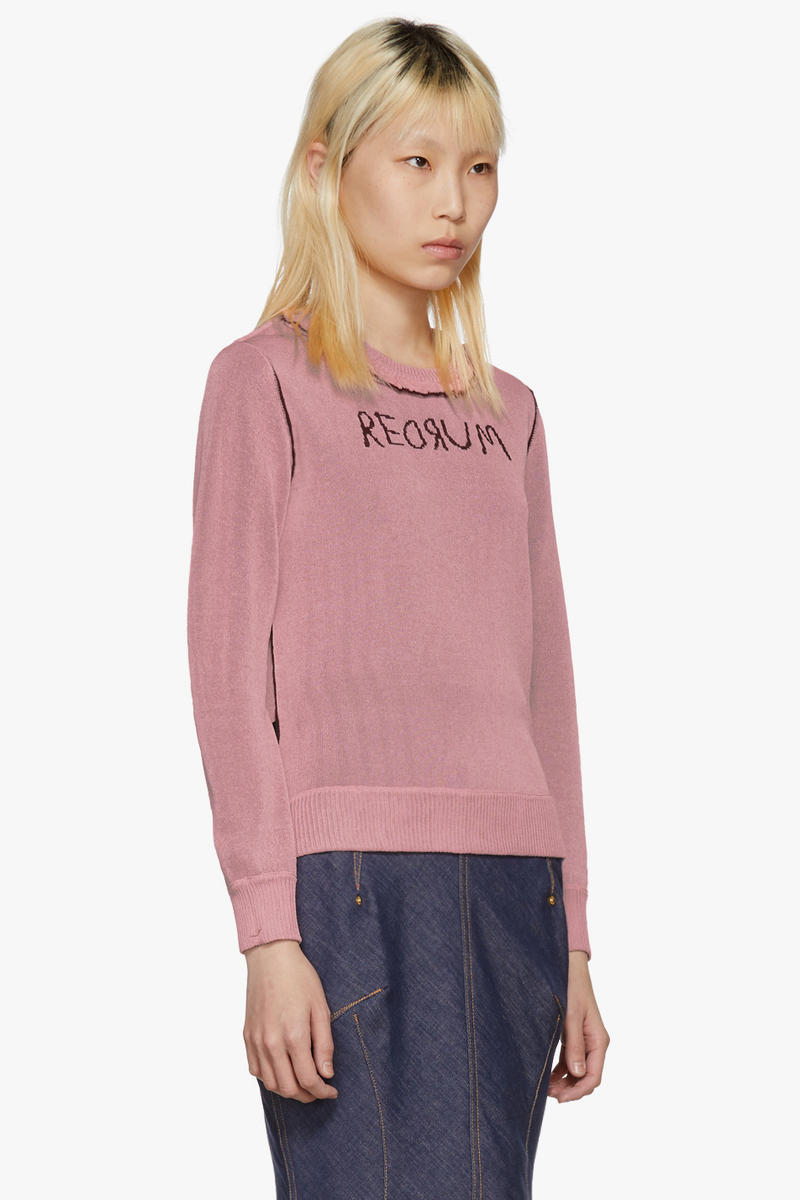 undercover jun takahashi the shining redrum murder reversible sweater stanley kubrick stephen king horror pink front side pastel