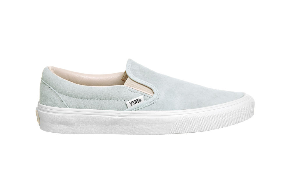 Vans Slip On Illusion Blue Silver Peony Suede