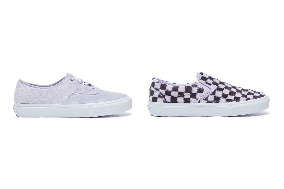 hot-selling discount 100% quality newest style Vans Furry Pastel Authentic and Slip-On Sneakers | HYPEBAE