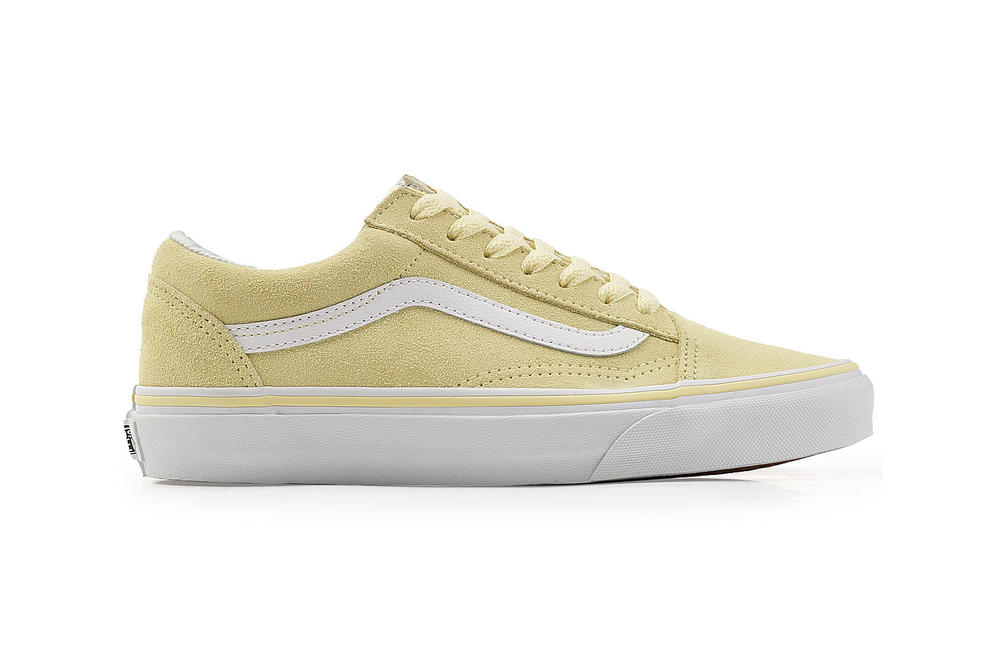 c6719990ce Vans Old Skool Sneaker Pastel Yellow off the wall unisex mens womens suede  pale light spring