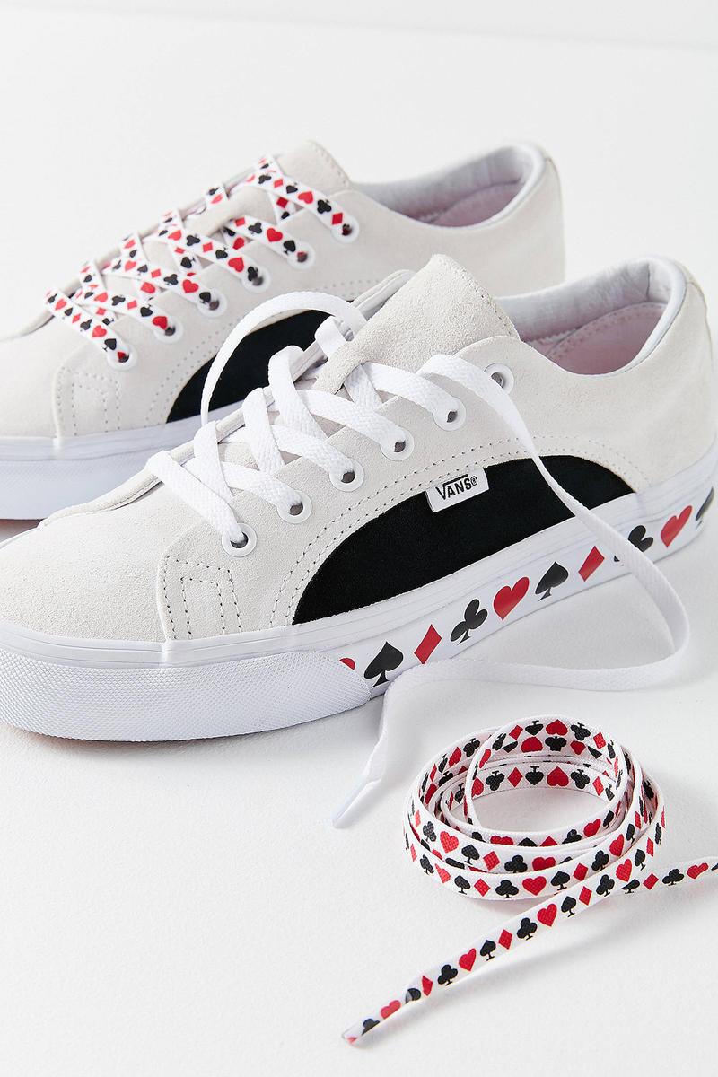 Vans Urban Outfitters Lampin Skin Sneakers Playing Cards Heart Red White Black