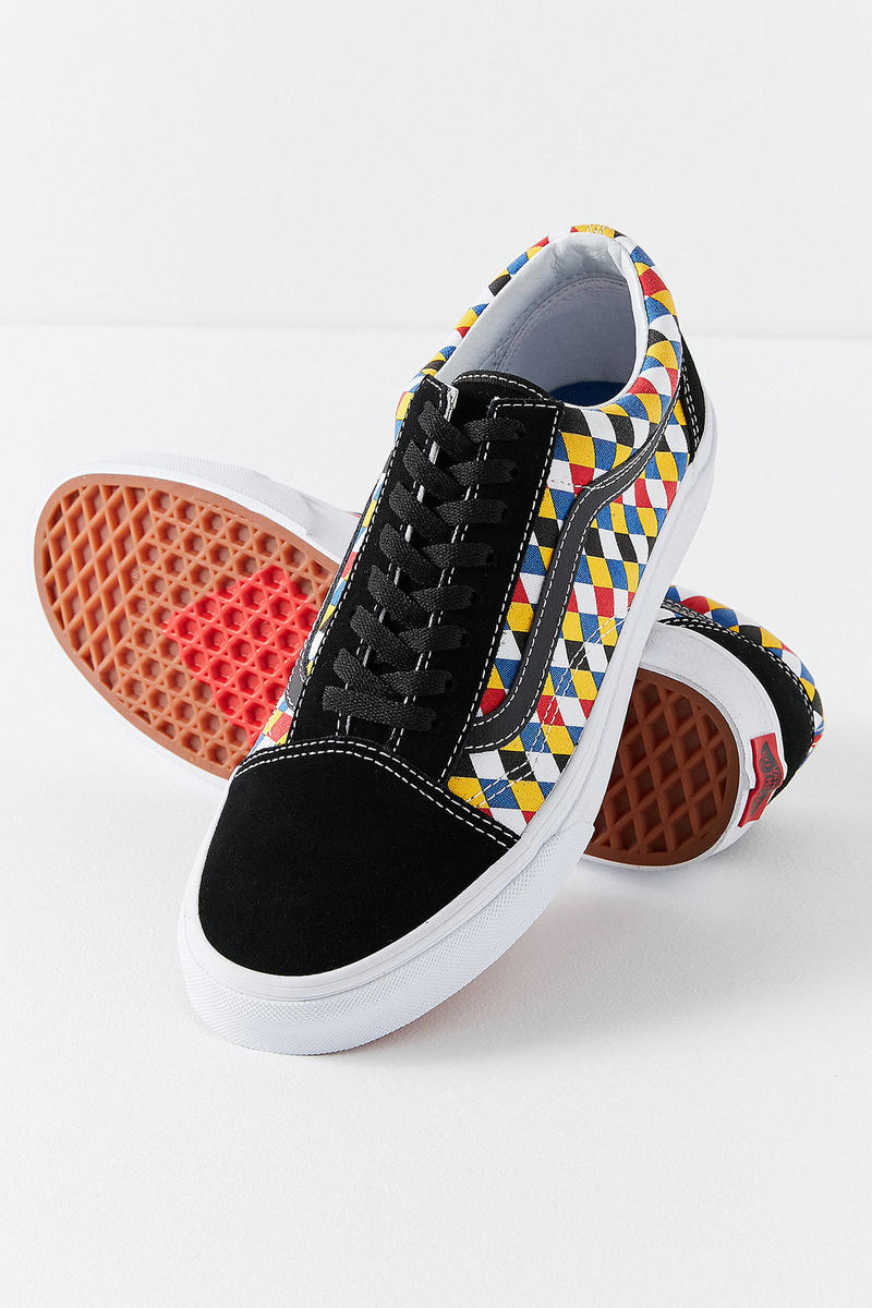 Vans Urban Outfitters Old Skool Diamonds Playing Cards Black Red Yellow Blue