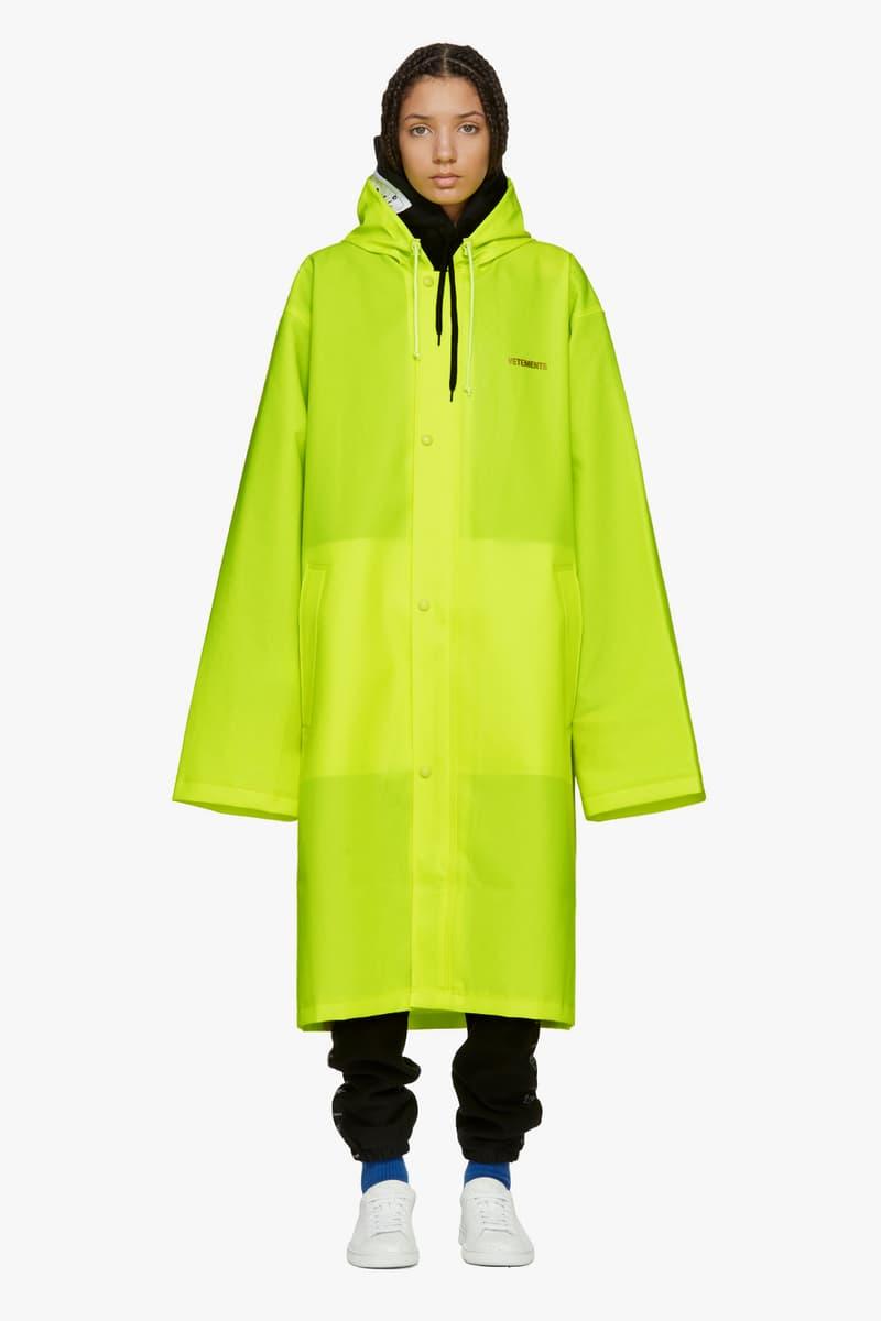 Vetements Spring/Summer Collection Drop Raincoat