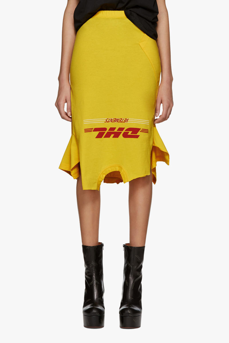Vetements Spring/Summer Collection Drop DHL skirt