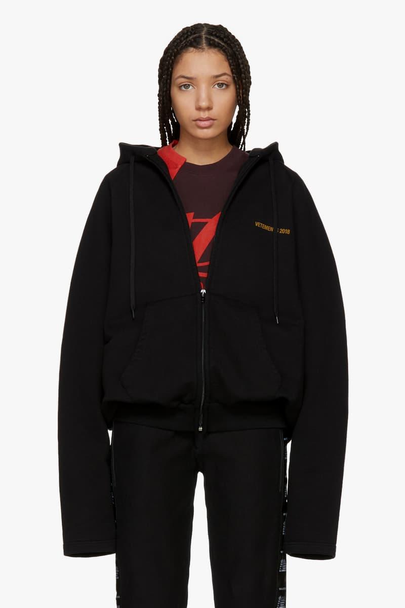 Vetements Spring/Summer Collection Drop Zip Up Hoodie