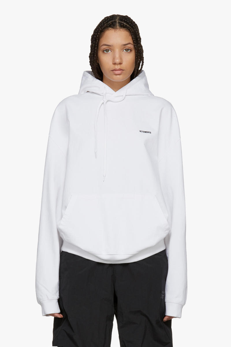 Vetements Spring/Summer Collection Drop White Hoodie