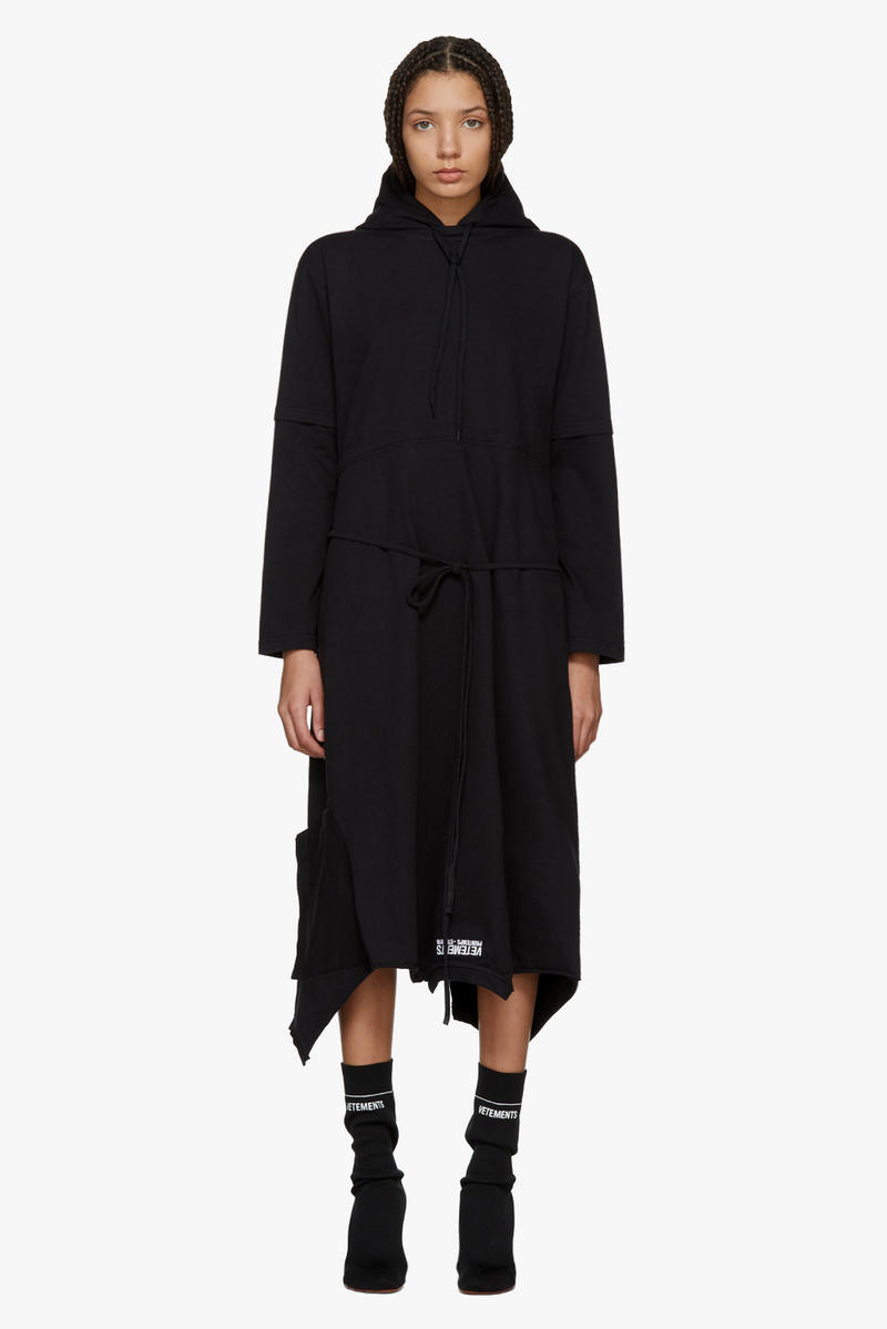 Vetements Spring/Summer Collection Drop Hoodie Dress
