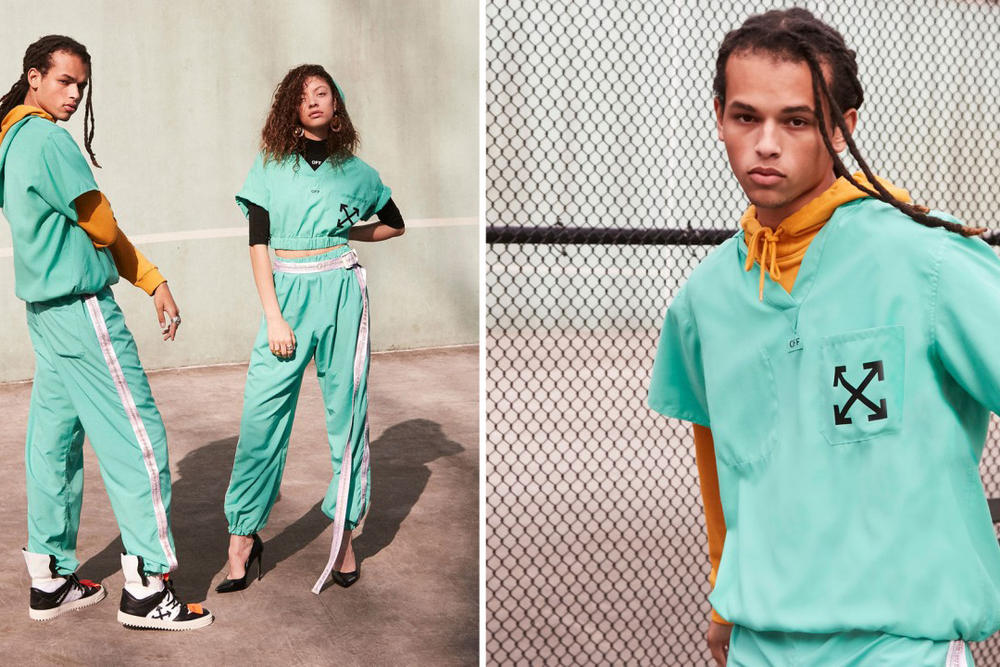 Virgil Abloh x Equinox Charity Auction Sweatsuit Scrubs Off-White™ Cancer Research Donation Bidding