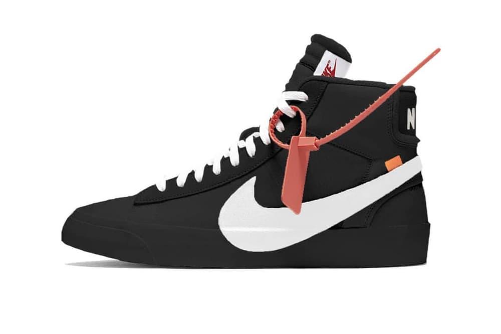 free shipping 1c513 b0680 Virgil Abloh x Nike Blazer Two New Colorways Black Cream White Sneaker  Silhouette Collaboration The Ten