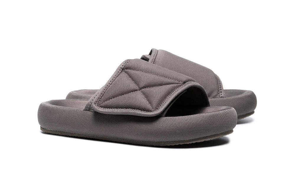 YEEZY Grey Flatform Slippers Kanye West Slides Slip on sandals where to buy mens women's unisex Browns brownsfashion