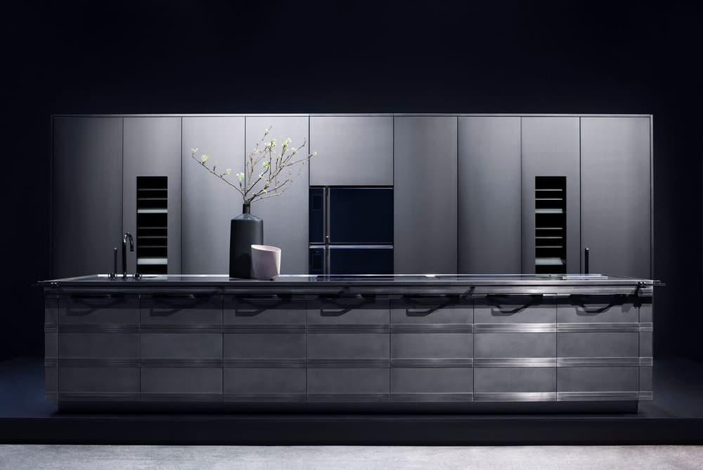 FENDI Scic Collaboration FENDICUISINE Kitchen Design Steel Grey Elegant karl lagerfeld