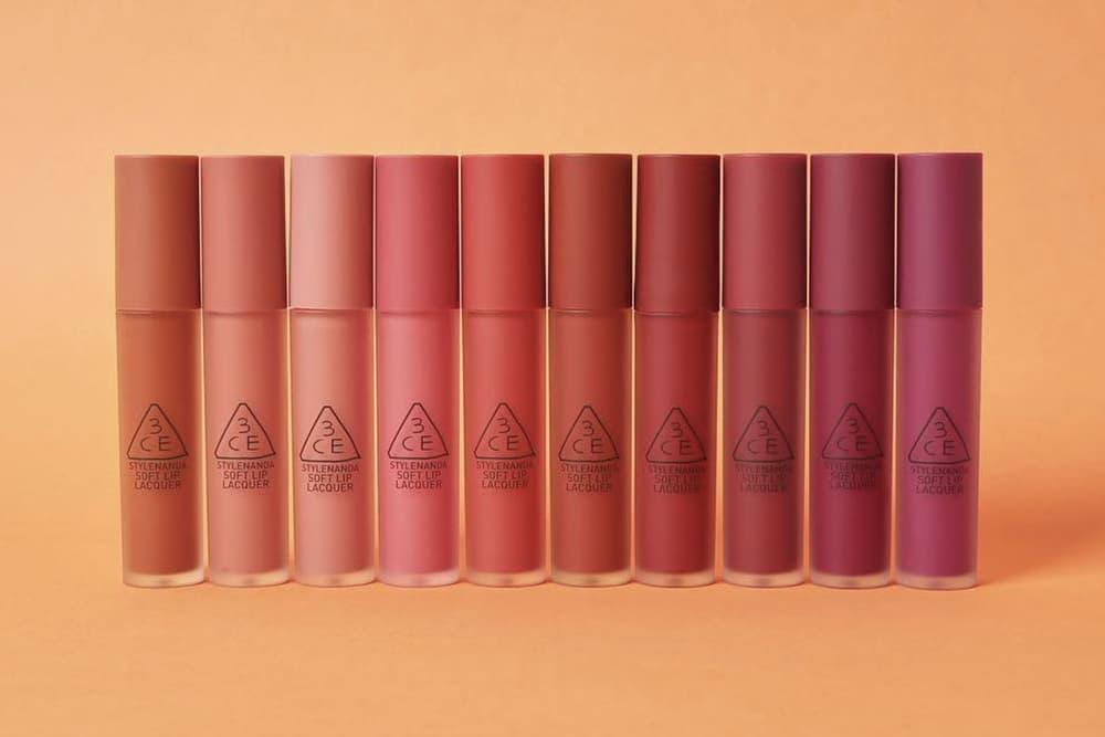 3CE 10 matte shades Soft Lip Lacquer Lipstick Gloss Stylenanda k-beauty where to buy