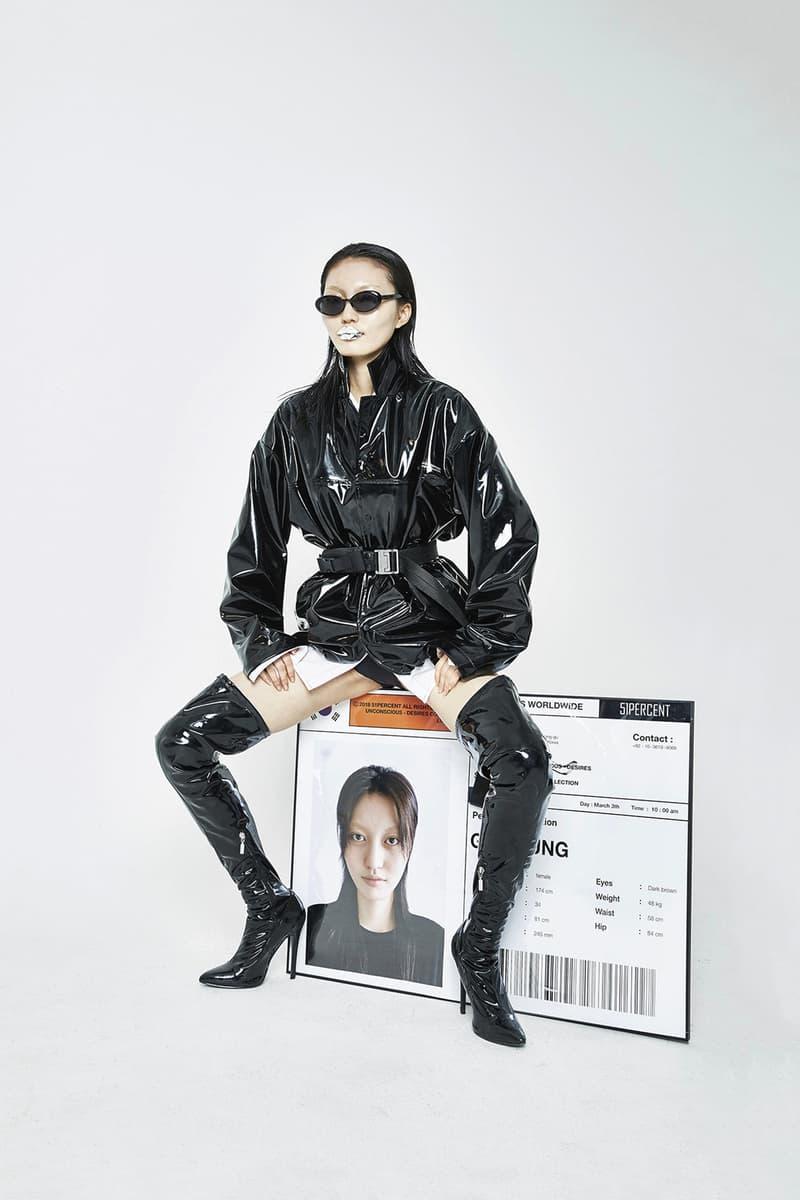 51PERCENT Spring/Summer 2018 Collection Lookbook Enamel Coach Jacket Boots Black