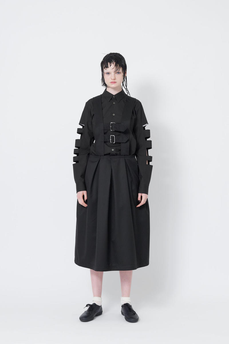 Black Comme des Garcons Spring Summer 2018  Rei Kawakubo Womenswear Blue Grey Red White