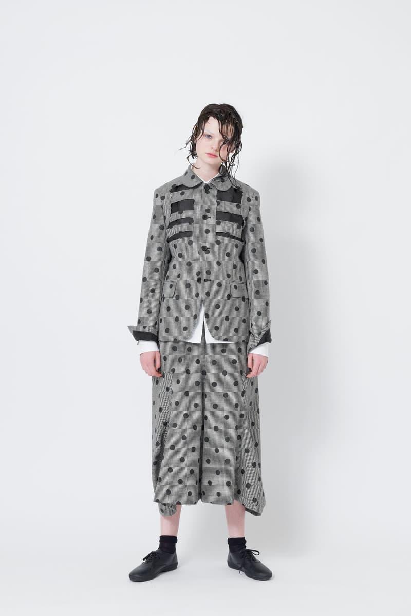 Black Comme des Garcons Spring Summer 2018  Rei Kawakubo Womenswear Blue Grey Red White