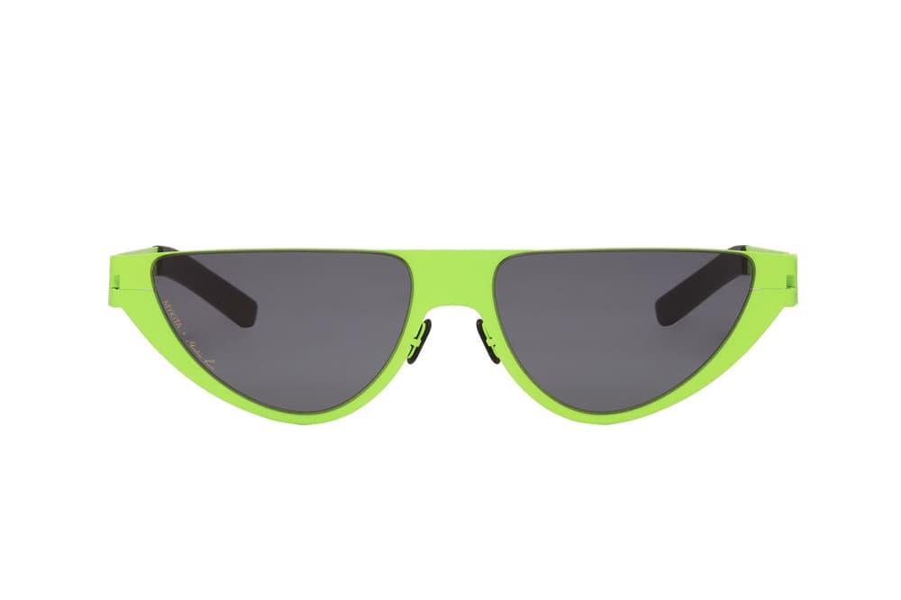 Martine Rose Lime Green Black Sunglasses Cat Eye Summer Chic