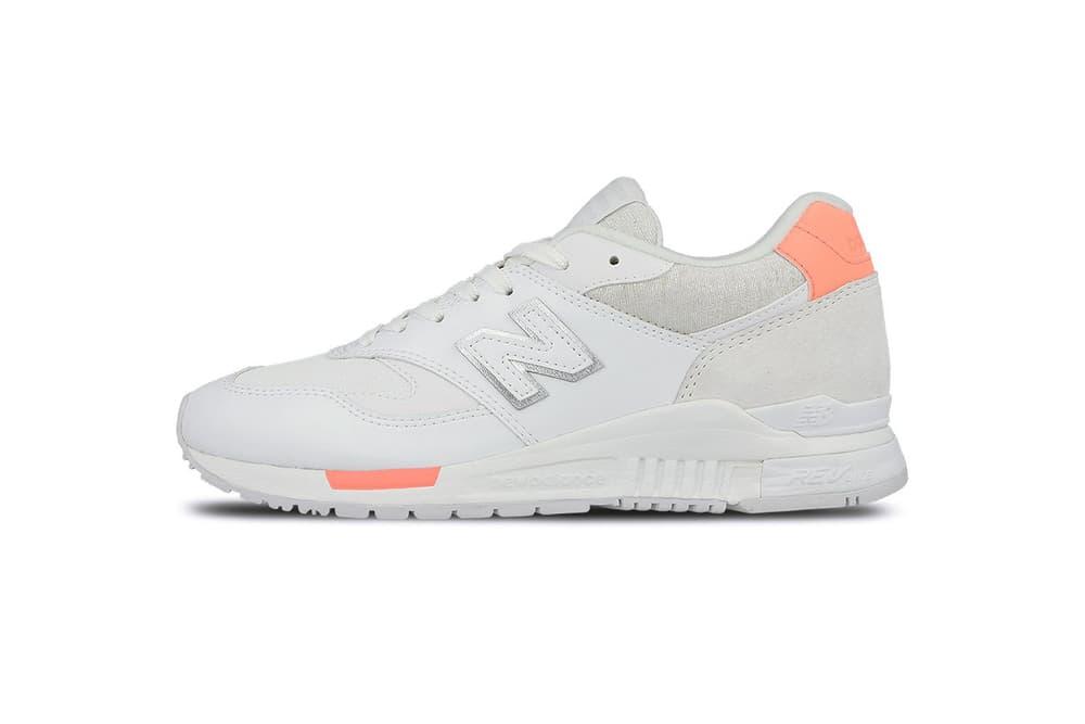 New Balance 840 White/Orange Sneaker White Sole Silhouette