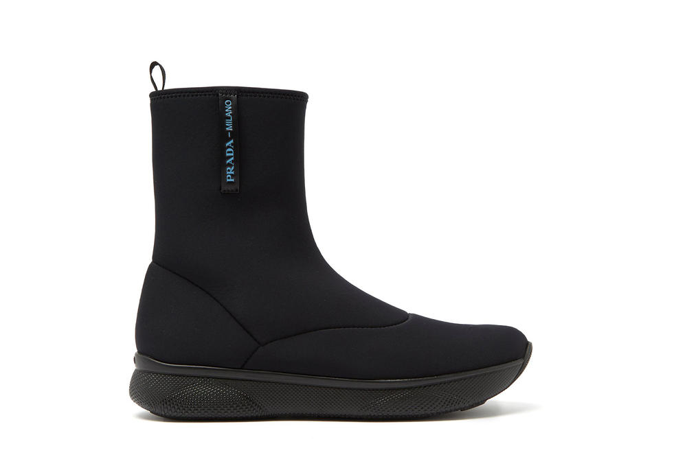 Prada Neoprene Black Ankle Boots Spring