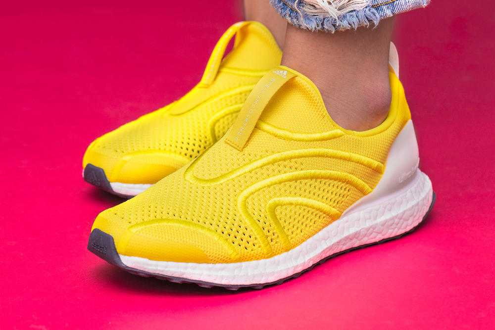 0f5afa4be adidas by stella mccartney ultraboost uncaged primeknit yellow white side  profile