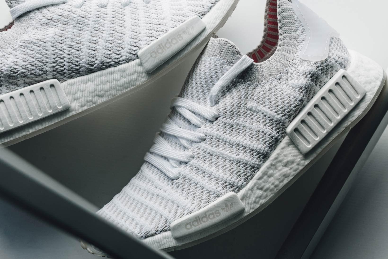 Adidas Nmd R1 Stlt Primeknit White And Soft Pink Hypebae