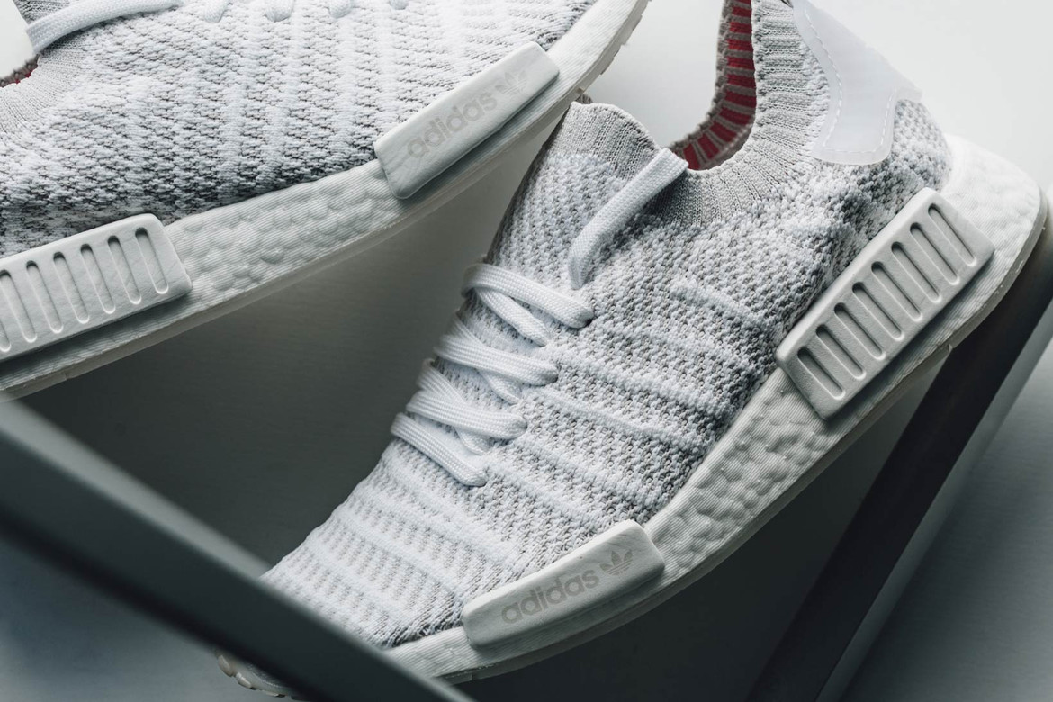 cheap for discount a523d 6566e adidas NMD R1 STLT Primeknit White and Soft Pink | HYPEBAE
