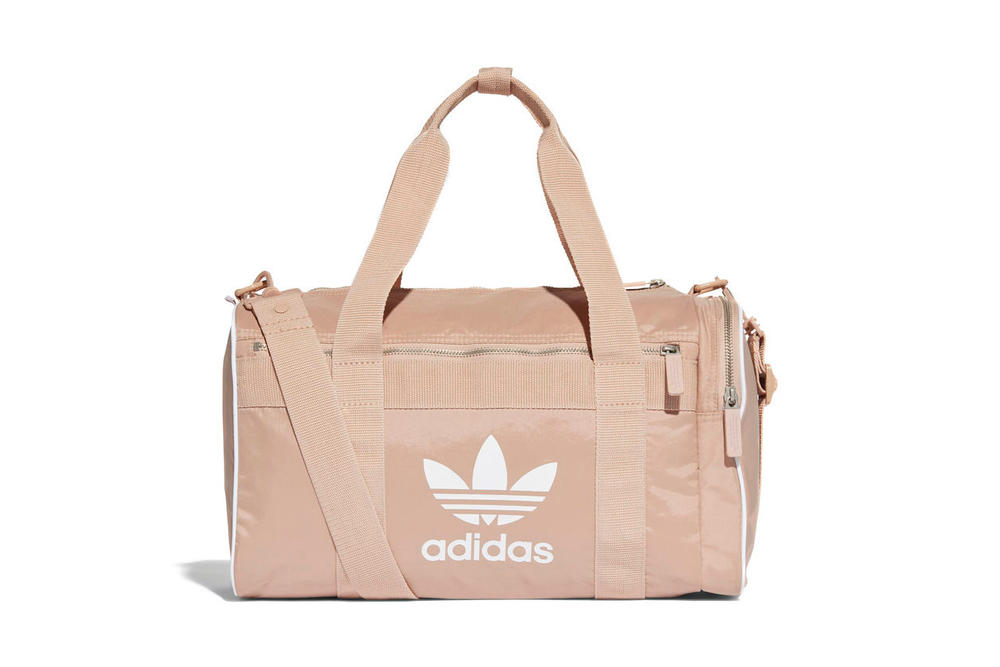adidas Originals Dusky Pink Duffel Bag Ash Pearl Medium Travel Weekend Carry-all