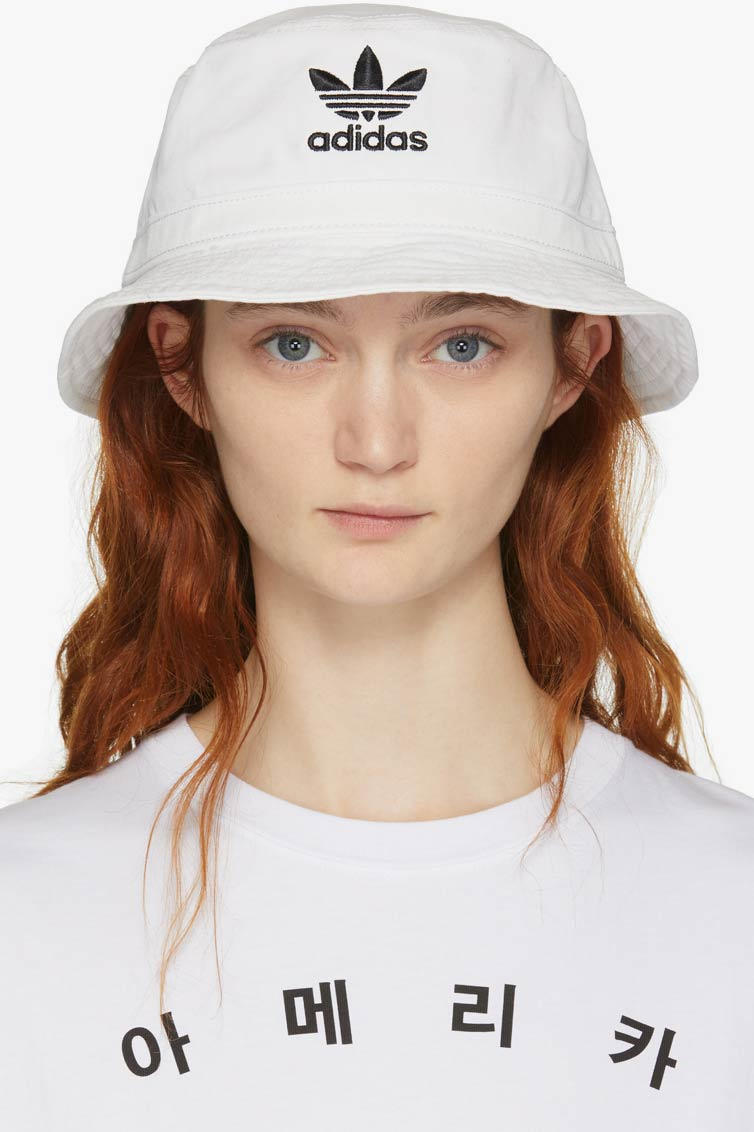 adidas Originals OG Washed Bucket Hat White
