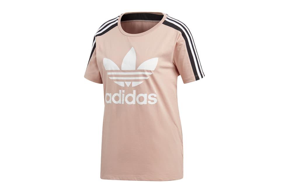 adidas originals dusky dusty pastel pink dress t-shirt backpack logo slides adilette fan bingbing yang mi