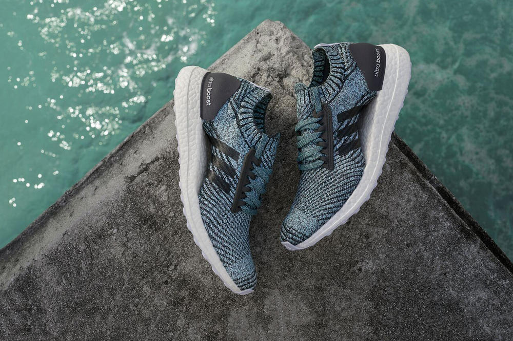 3455e8541e24b Parley x adidas Debut New UltraBOOST Carbon Blue