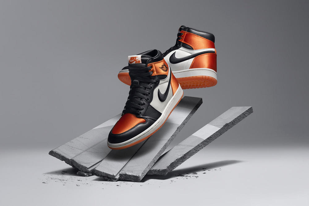 Air Jordan 1 Nike Brand Satin Shattered Backboard Orange Women Release Price Date