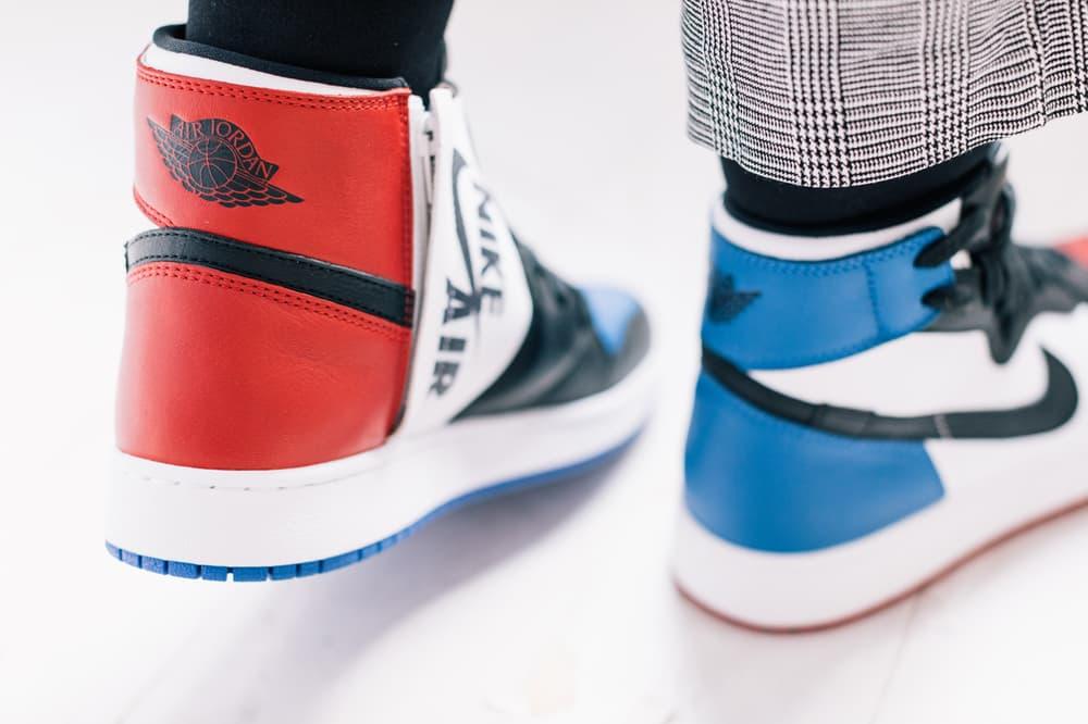 Air Jordan 1 Top 3 Closer Look Chicago Bred Royal