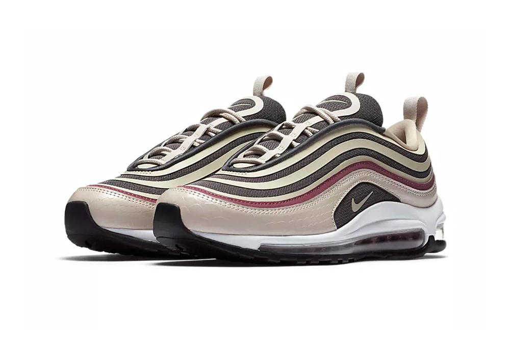 Nike Air Max 97 Ultra Desert Sand Dark Grey Vintage Wine