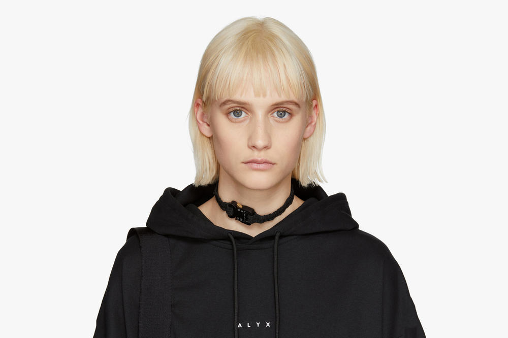 ALYX Studio Black Buckle Choker Necklace SSENSE Exclusive Matthew Williams Accessories