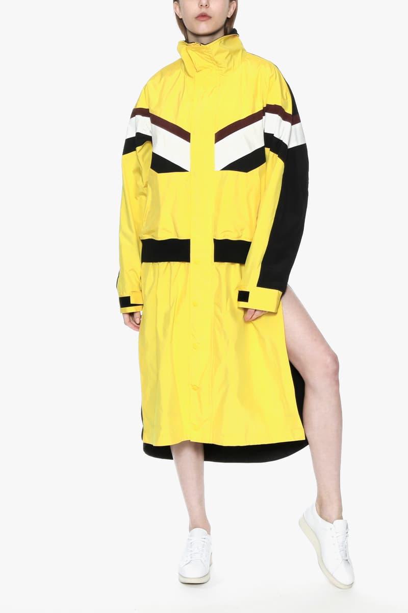 ambush joyce verbal yoon exclusive capsule tracksuit track jacket pants punk dress yellow black white