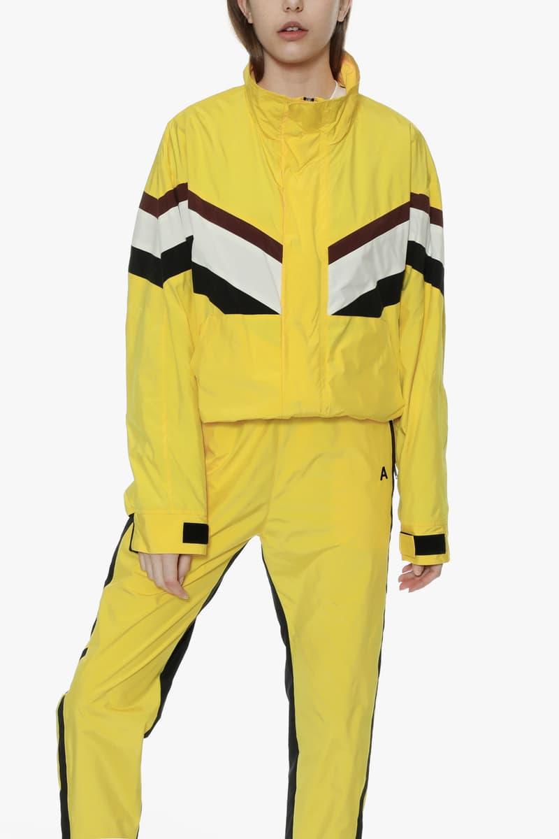 ambush joyce verbal yoon exclusive capsule tracksuit track jacket pants punk tracksuit yellow black white
